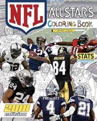 NFL All Stars 2018: The Ultimate Football Coloring, Stats and Activity Book for Adults and Kids!