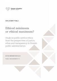 Ethical minimum or ethical maximum?