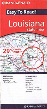 Rand McNally Easy to Read! Louisiana State Map