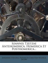 Ioannis Tzetzae Antehomerica, Homerica Et Posthomerica...