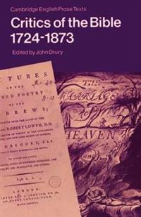 Critics of the Bible 1724-1873