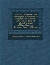 Plantae Tinneanae: Sive Descriptio Plantarum In Expeditione Tinneana Ad Flumen Bahr-el-ghasal Eiusque Affluentias ...... - Primary Source Edition