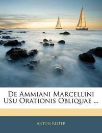 De Ammiani Marcellini Usu Orationis Obliquae ...