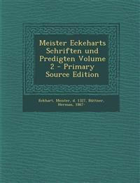 Meister Eckeharts Schriften und Predigten Volume 2