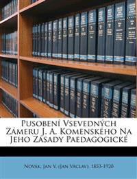 Pusobení Vsevedných Zámeru J. A. Komenského Na Jeho Zásady Paedagogick