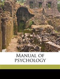 Manual of psychology
