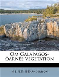Om Galapagos-öarnes vegetation