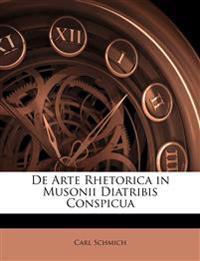 De Arte Rhetorica in Musonii Diatribis Conspicua