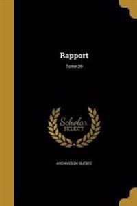 FRE-RAPPORT TOME 20
