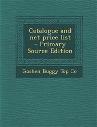 Catalogue and Net Price List - Primary Source Edition