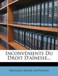Inconvénients Du Droit D'aînesse...