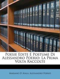 Poesie Edite E Postume Di Alessandro Poerio: La Prima Volta Raccolte