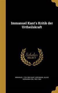 GER-IMMANUEL KANTS KRITIK DER