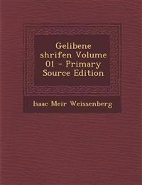 Gelibene Shrifen Volume 01