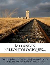 Mélanges Paléontologiques...