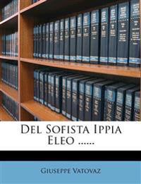 Del Sofista Ippia Eleo ......