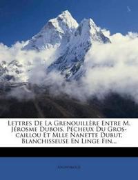 Lettres De La Grenouillère Entre M. Jérosme Dubois, Pécheux Du Gros-caillou Et Mlle Nanette Dubut, Blanchisseuse En Linge Fin...