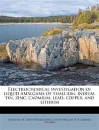 Electrochemical investigation of liquid amalgams of thallium, indium, tin, zinc, cadmium, lead, copper, and lithium