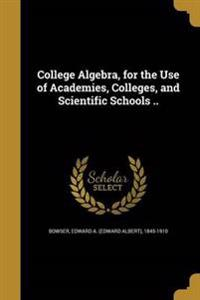 COL ALGEBRA FOR THE USE OF ACA