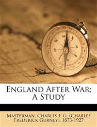 England after war; a study