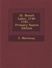 St. Benoît Labre, 1748-1783...