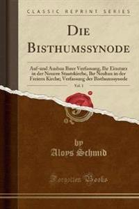 Die Bisthumssynode, Vol. 1