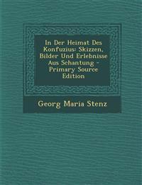 In Der Heimat Des Konfuzius: Skizzen, Bilder Und Erlebnisse Aus Schantung - Primary Source Edition