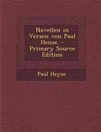Novellen in Versen von Paul Hense. - Primary Source Edition