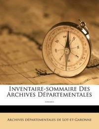 Inventaire-sommaire Des Archives Départementales ......