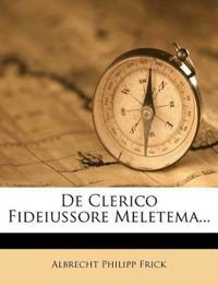 De Clerico Fideiussore Meletema...