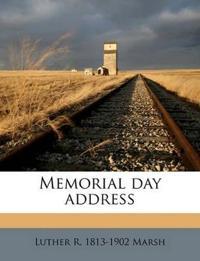 Memorial day address
