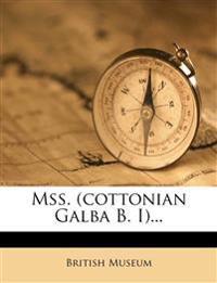 Mss. (cottonian Galba B. I)...