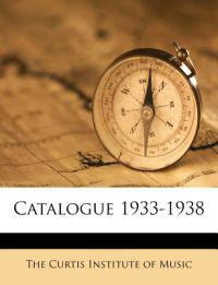 Catalogue 1933-1938