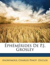 Éphémérides De P.J. Grosley