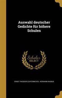 GMH-AUSWAHL DEUTSCHER GEDICHTE