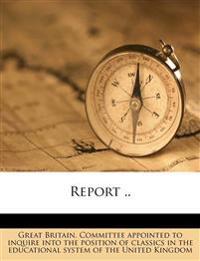 Report ..