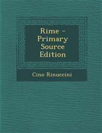Rime - Primary Source Edition