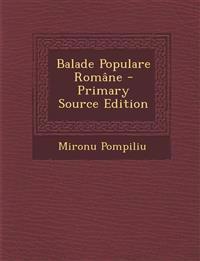 Balade Populare Române