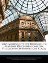 Sitzungsberichte der Kaiserlichen Akademie der Wissenschaften, Philosophisch-Historische Klasse, CXII Band, I Heft