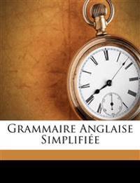 Grammaire Anglaise Simplifiée