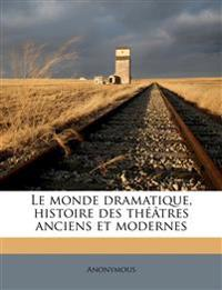 Le monde dramatique, histoire des théâtres anciens et modernes