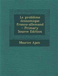 Le problème économique franco-allemand
