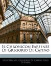 Il Chronicon Farfense Di Gregorio Di Catino