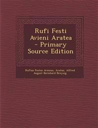 Rufi Festi Avieni Aratea - Primary Source Edition