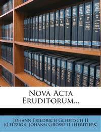 Nova Acta Eruditorum...