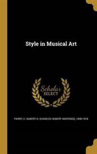 STYLE IN MUSICAL ART