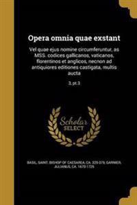 GRC-OPERA OMNIA QUAE EXSTANT