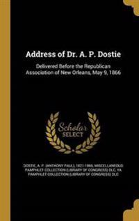 ADDRESS OF DR A P DOSTIE