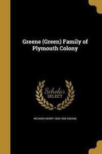 GREENE (GREEN) FAMILY OF PLYMO