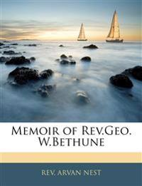 Memoir of Rev.Geo. W.Bethune